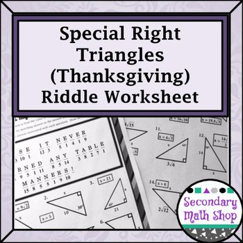 30 60 90 Triangles Worksheet Beautiful Right Triangles Special Right 45 45 & 30 60 90