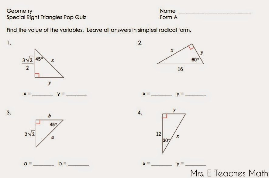 30 60 90 Triangles Worksheet Best Of 55 Special Right Triangles 30 60 90 Worksheet Special