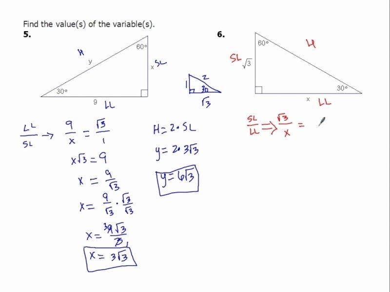 30 60 90 Triangles Worksheet Elegant 30 60 90 Triangle Worksheet Free Printable Worksheets