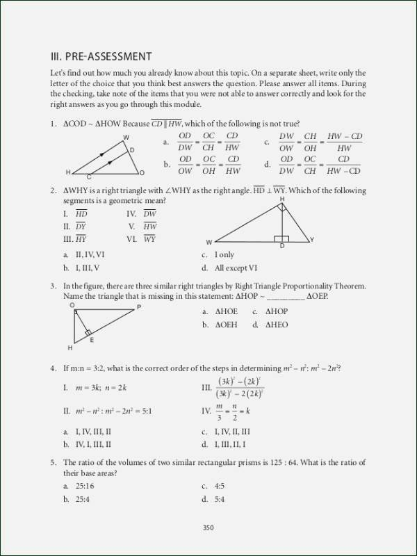 30 60 90 Triangles Worksheet Elegant Special Right Triangles 30 60 90 Worksheet Answers