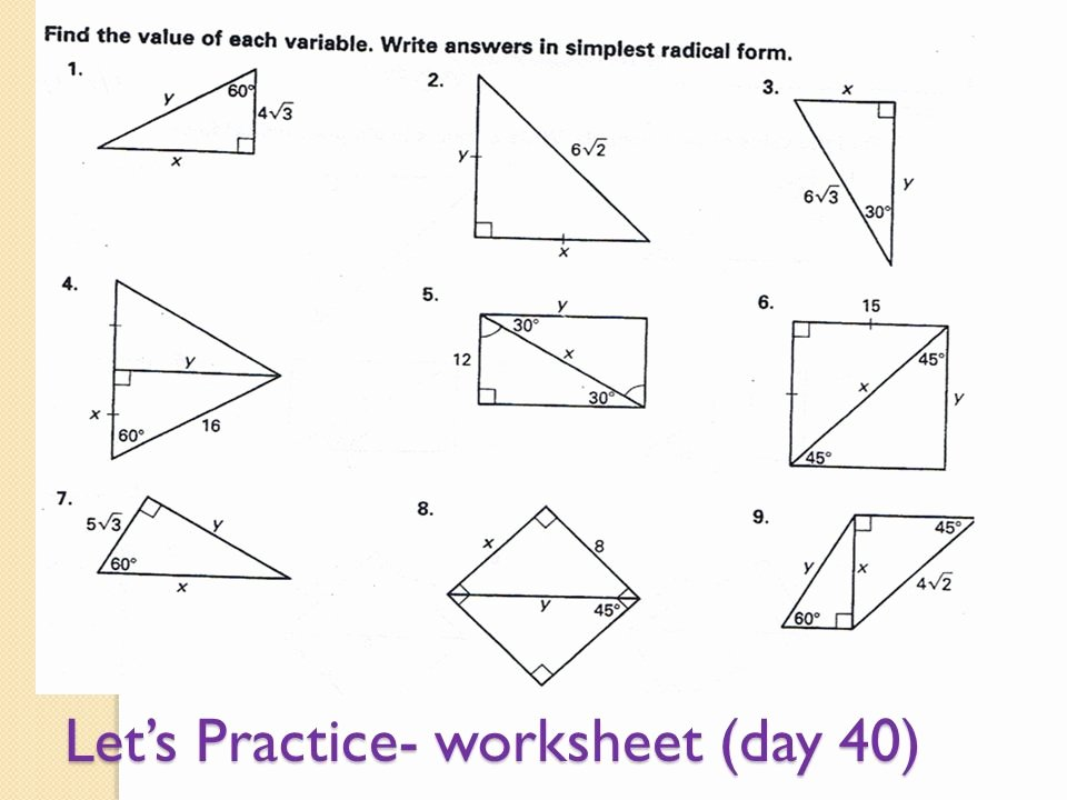 30 60 90 Triangles Worksheet Fresh 30 60 90 Triangle Worksheet the Best Worksheets Image