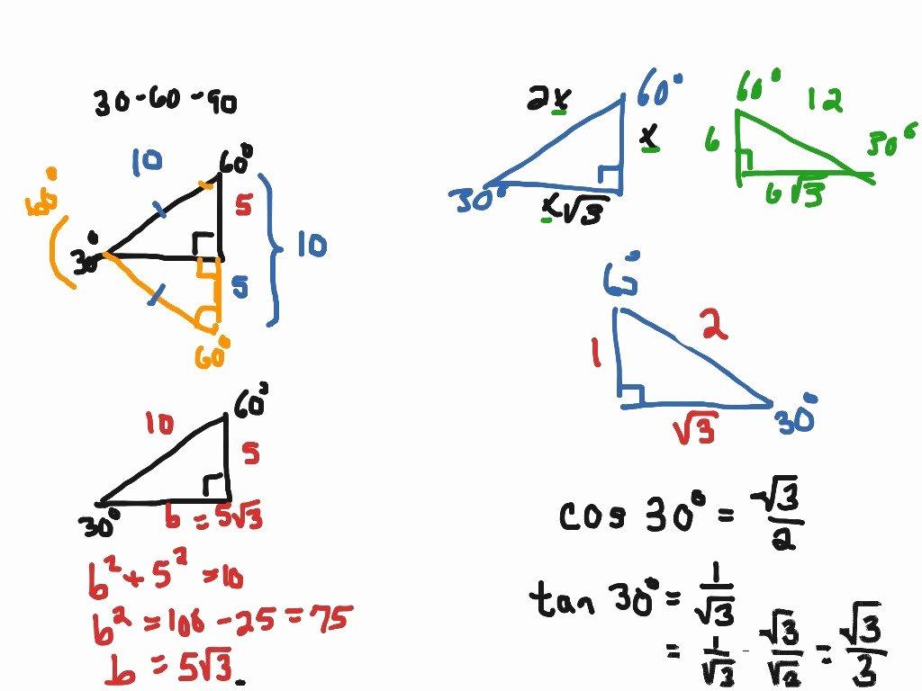 30 60 90 Triangles Worksheet Fresh 45 45 90 Triangle Worksheet A 7 3