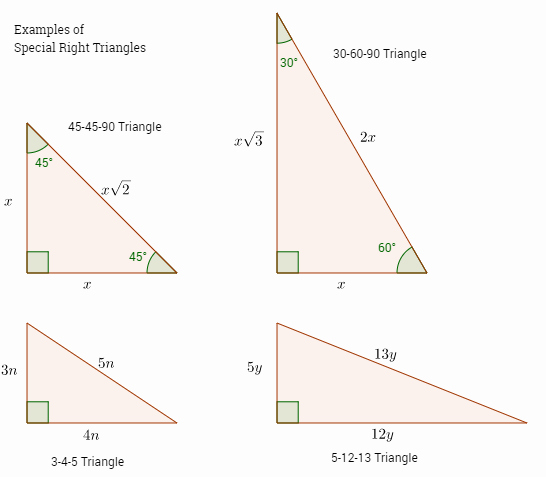 30 60 90 Triangles Worksheet Fresh Special Right Triangles solutions Examples Videos