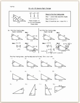 30 60 90 Triangles Worksheet Lovely 30 60 90 Special Right Triangle Practice Hw by Eric