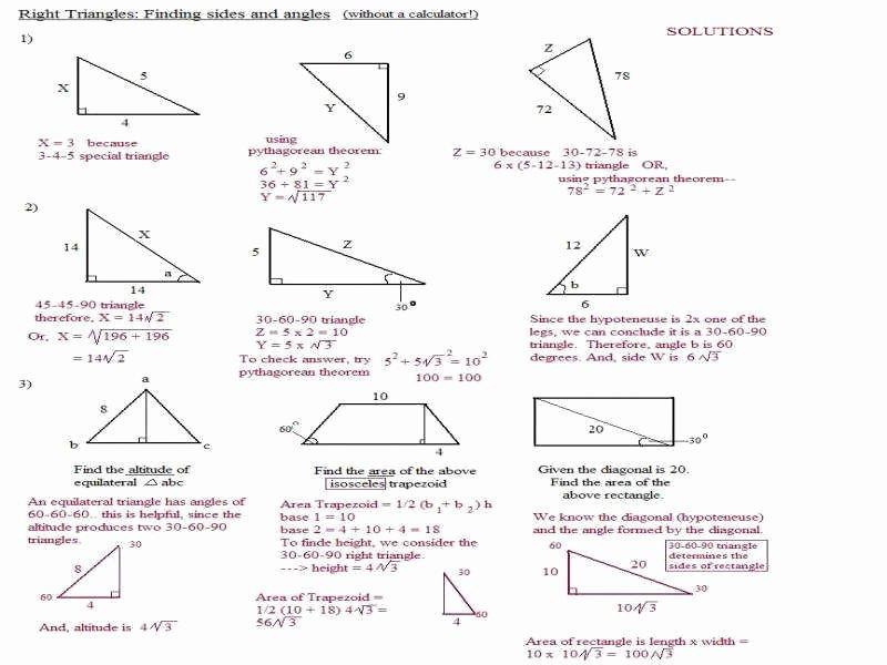 30 60 90 Triangles Worksheet Luxury 30 60 90 Triangle Worksheet