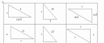 30 60 90 Triangles Worksheet New Special Right Triangle Activity Cards 30 60 90 and 45 45