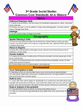 3rd Grade social Studies Worksheet Awesome 3rd Grade social Stu S Ohio State Standards at A Glance