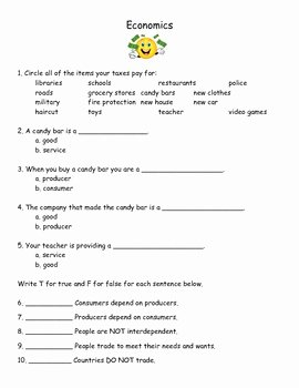 3rd Grade social Studies Worksheet Elegant 3rd Grade social Stu S Economics Worksheet & Answer Key