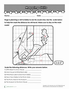3rd Grade social Studies Worksheet Inspirational Map Scale Practice Edci 454