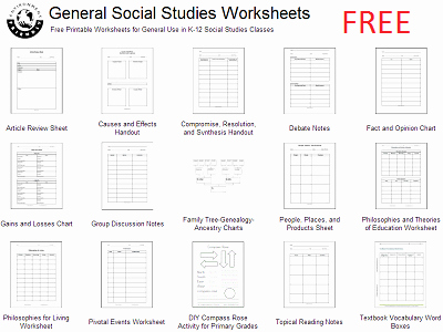 3rd Grade social Studies Worksheet Luxury Free social Stu S Reproducibles & Worksheets