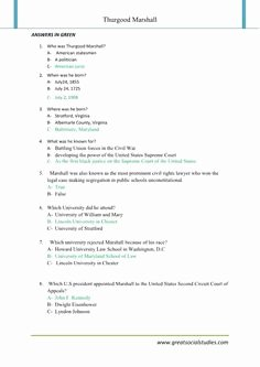 3rd Grade social Studies Worksheet Luxury Thurgood Marshall the Mailbox