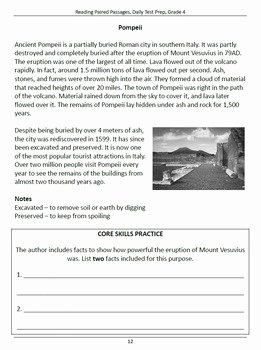 4.4 Biomes Worksheet Answers Awesome Reading Prehension Daily Test Prep Bundle Grade 4
