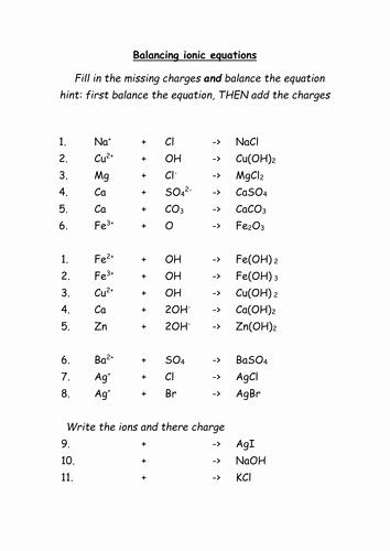 4.4 Biomes Worksheet Answers Beautiful Balancing Ionic Equations Worksheet Ks4 Ocr C5 by
