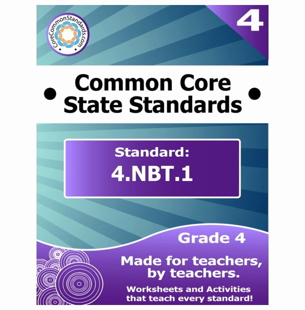 4 Nbt 1 Worksheet Beautiful 4 Nbt 1 Fourth Grade Mon Core Lesson