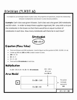 4 Nbt 1 Worksheet Elegant 4th Grade Math Mon Core Worksheet 4 Nbt 6 by
