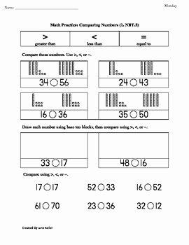 4 Nbt 1 Worksheet Lovely 1st Grade Mon Core Math Worksheets 1 Nbt 3 Paring