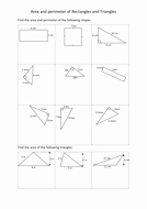 5.8 Special Right Triangles Worksheet Best Of area and Perimeter Of Rectangles and Triangles Worksheets