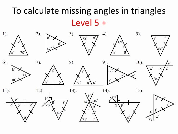 5.8 Special Right Triangles Worksheet Luxury Triangles Identifying and Finding Missing Angles