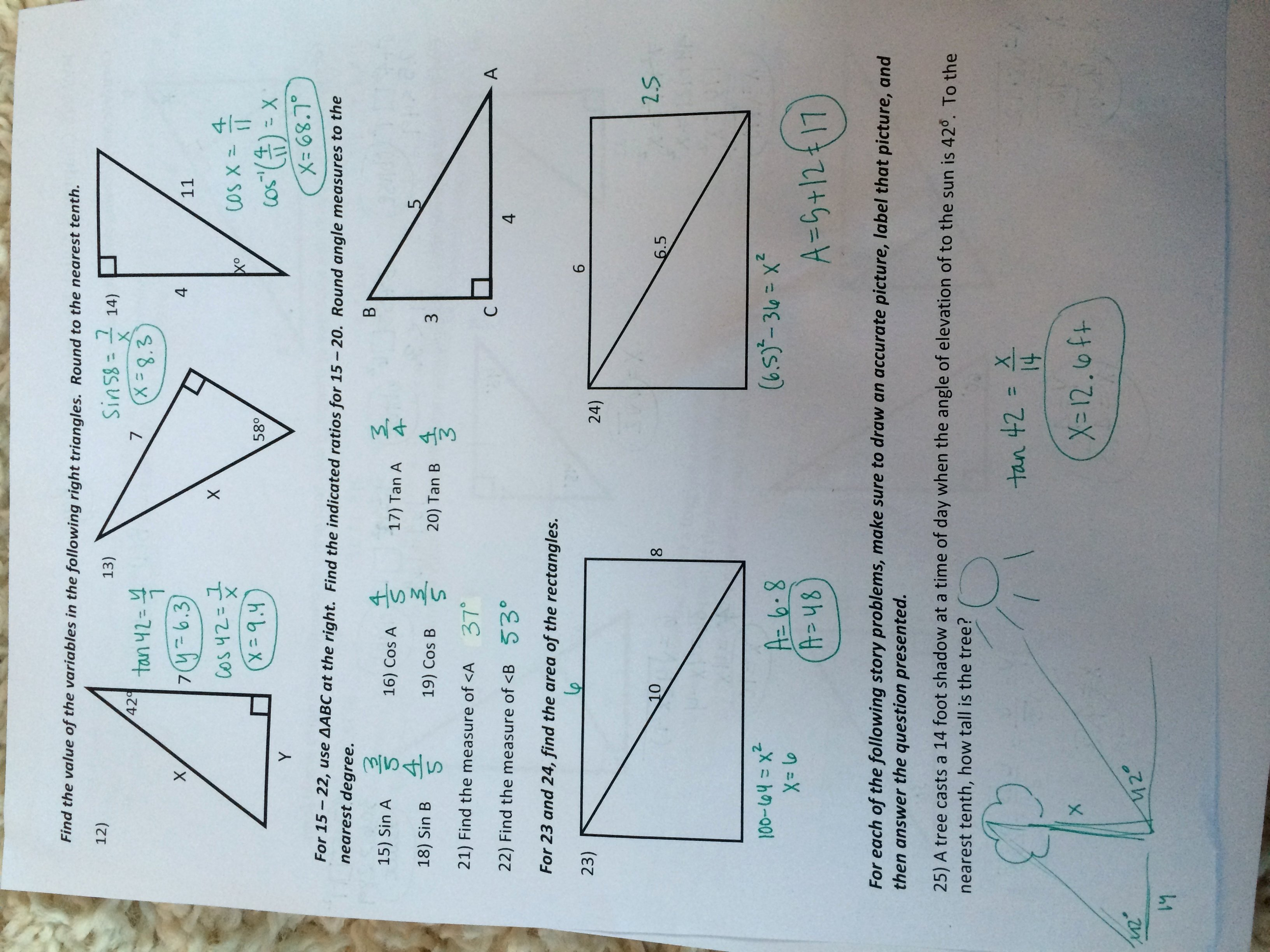5.8 Special Right Triangles Worksheet Unique Geometry