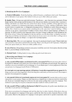 5 Love Languages Worksheet Elegant 5 Love Languages Free Download