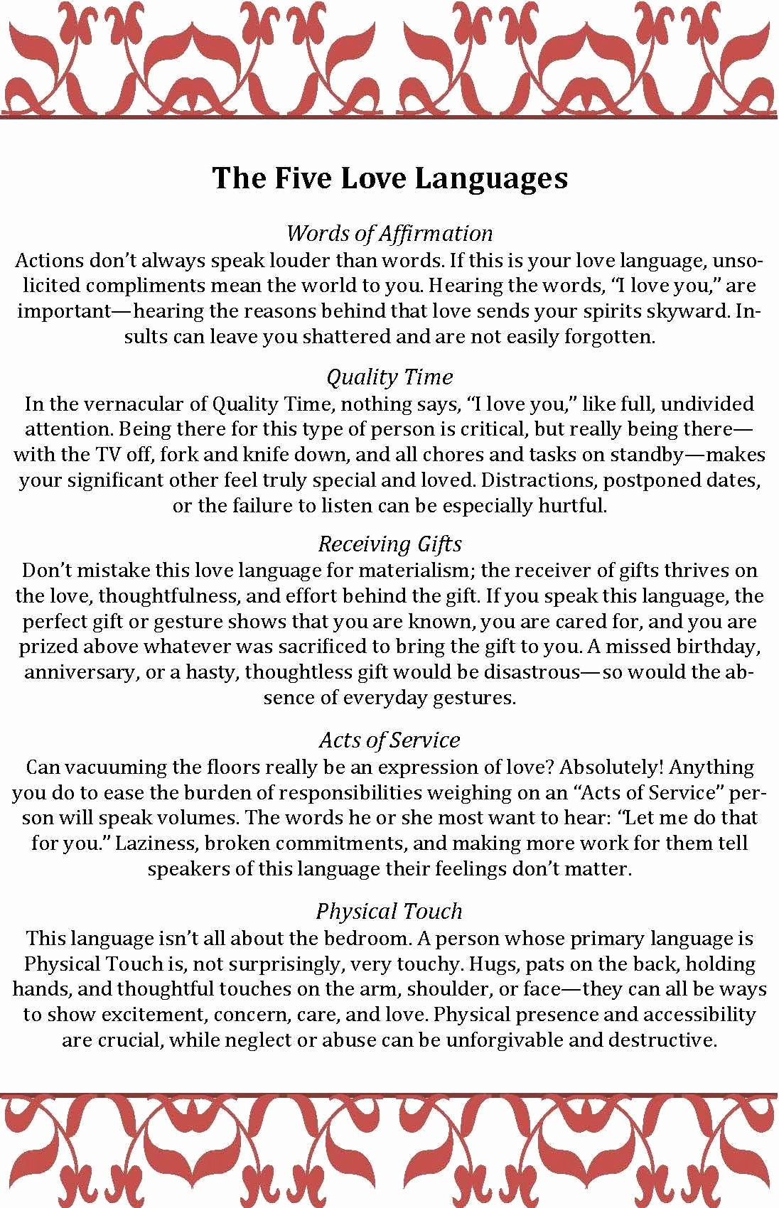 5 Love Languages Worksheet Elegant What S Your Love Language Take the Quiz the Five Love
