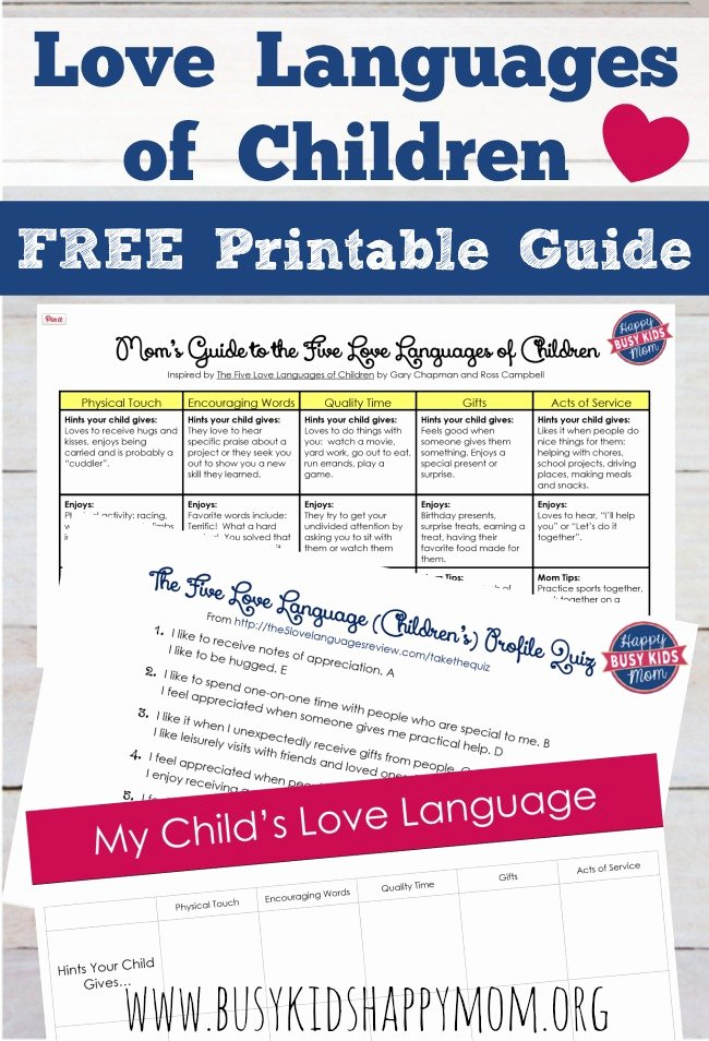 5 Love Languages Worksheet Luxury Five Love Languages Of Children