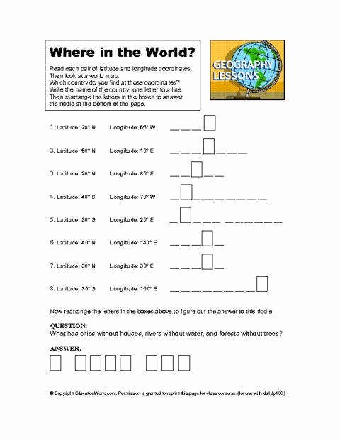 5 themes Of Geography Worksheet Fresh Five themes Geography Worksheet