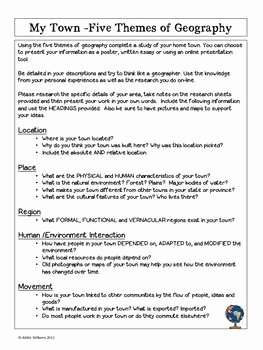 5 themes Of Geography Worksheet New 25 Best Ideas About Five themes Of Geography On Pinterest