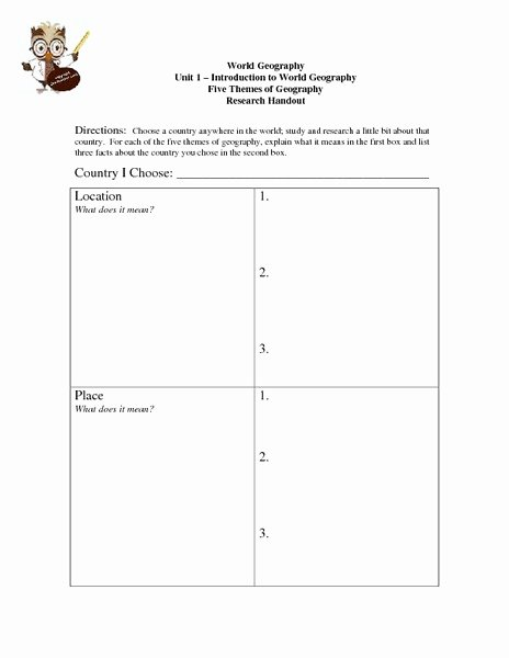 5 themes Of Geography Worksheet Unique Five themes Of Geography Lesson Plans & Worksheets