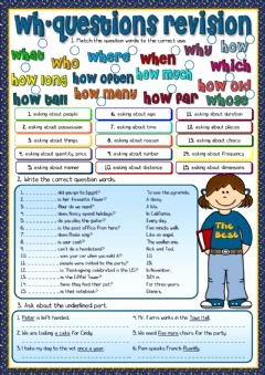 6.3 Biodiversity Worksheet Answers Inspirational English Exercises Wh Questions