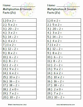 6.3 Biodiversity Worksheet Answers Unique Mixed Practice Fact Quizzes Multiplication and Division