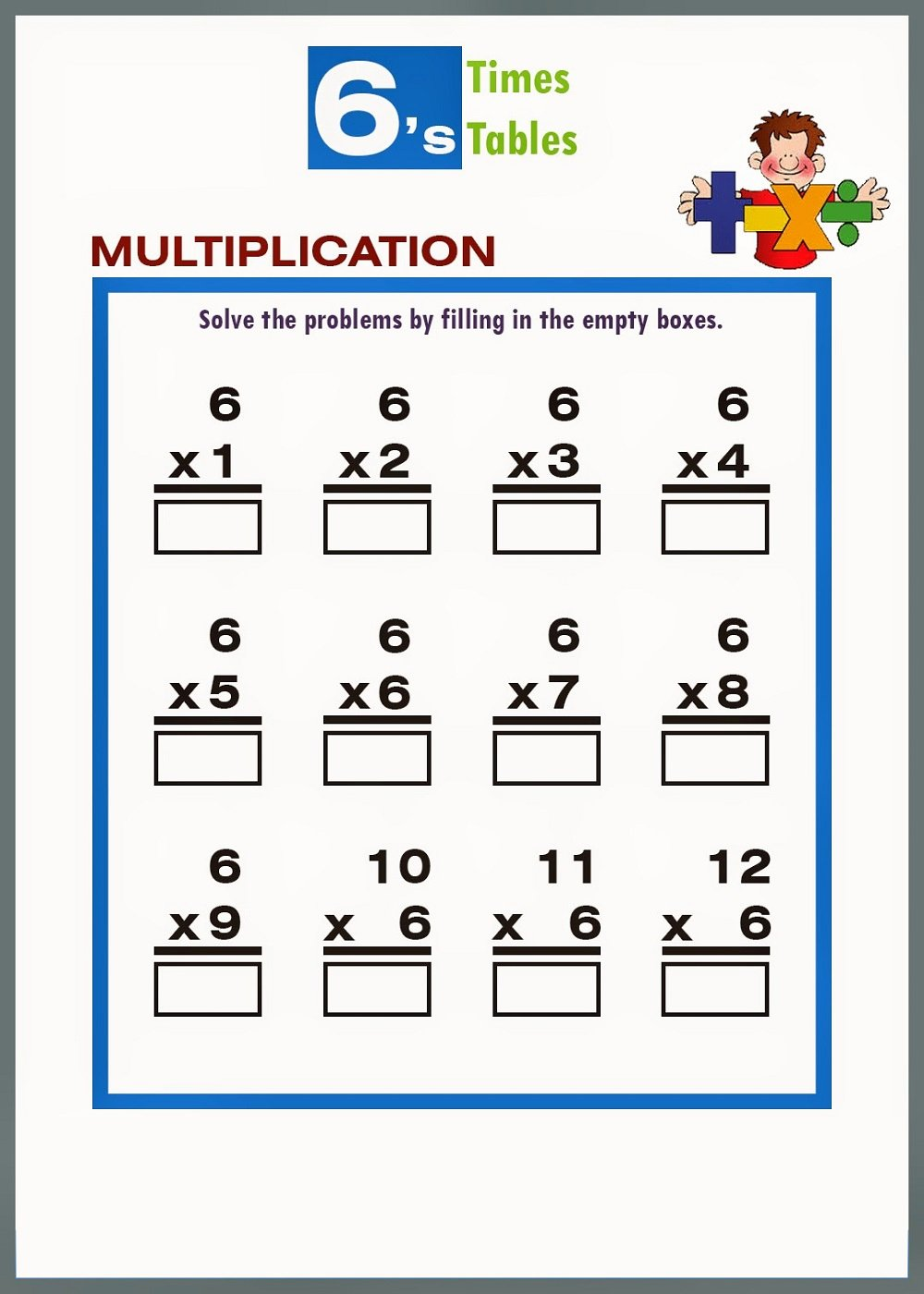 6 Times Table Worksheet Beautiful Printable 6 Times Table Worksheets