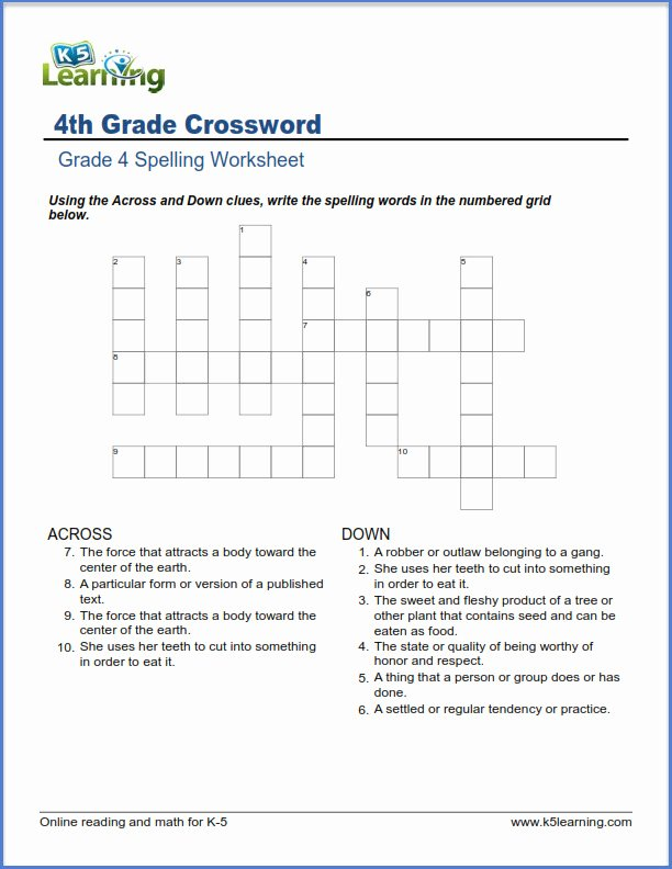 6th Grade Spelling Worksheet Awesome Fourth Grade Spelling Worksheets