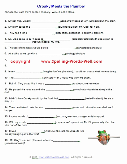6th Grade Spelling Worksheet Awesome Free Printable Spelling Worksheets
