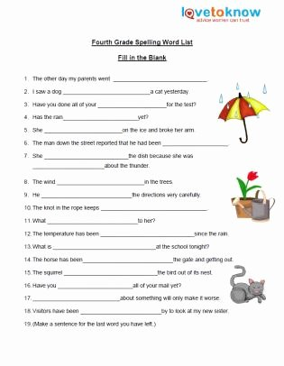 6th Grade Spelling Worksheet New Free Spelling Worksheet