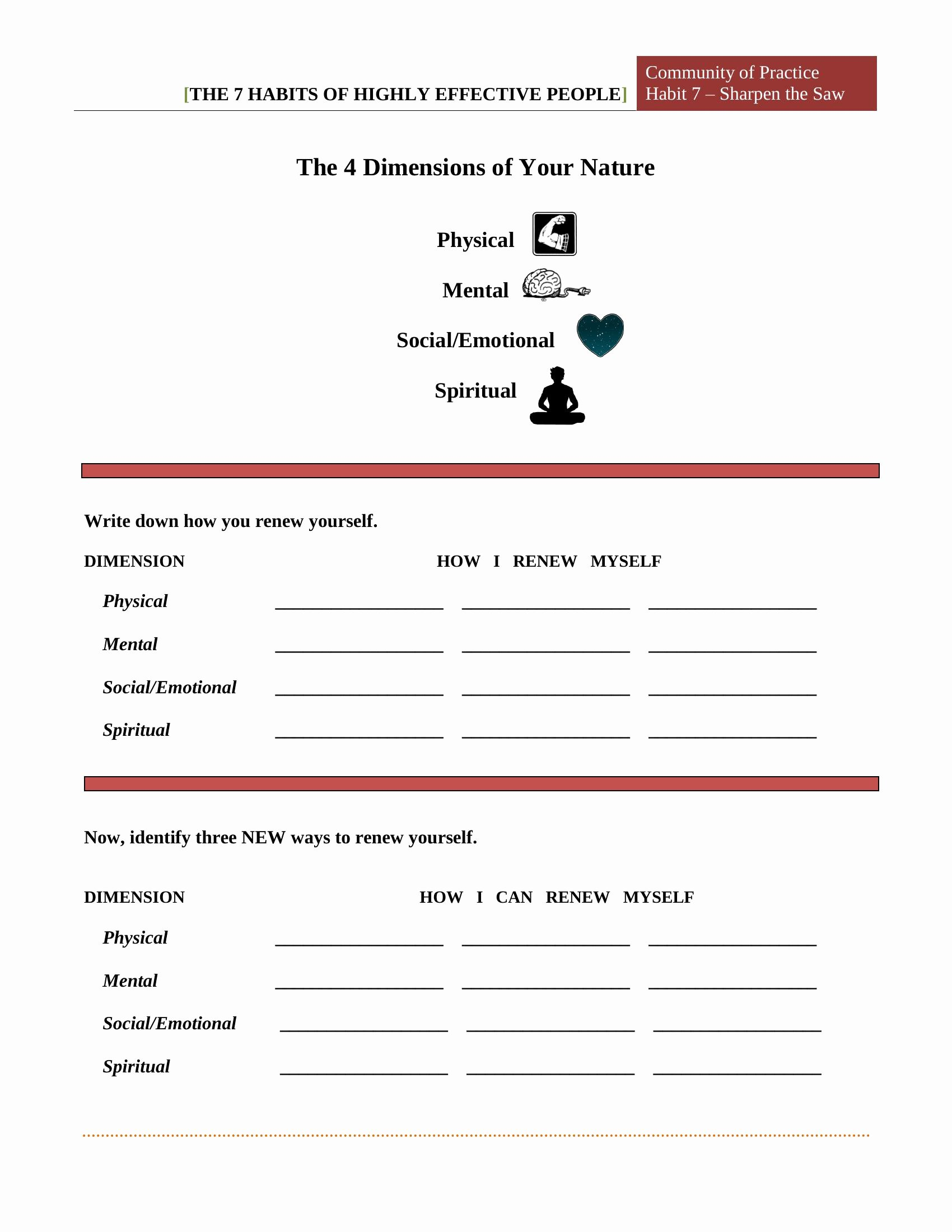 7 Habits Worksheet Pdf Beautiful 7 Habits Worksheet Pdf Free Download Printable