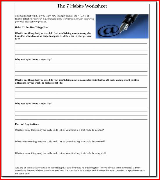 7 Habits Worksheet Pdf Elegant 7 Habits Highly Effective Teens Worksheets the Best