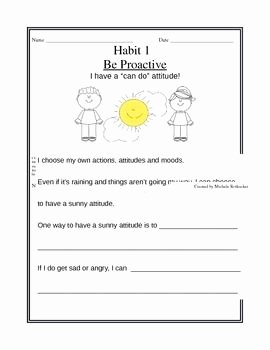 7 Habits Worksheet Pdf Elegant Habits Of Happy Kids Worksheets