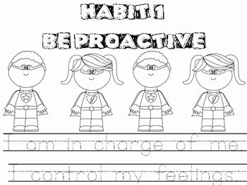 7 Habits Worksheet Pdf Luxury Habit 1 Be Proactive Color Sheet Tracing I Am In