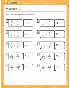 7th Grade Proportions Worksheet Awesome Proportion X – Free Printable On Proportion – Math Blaster