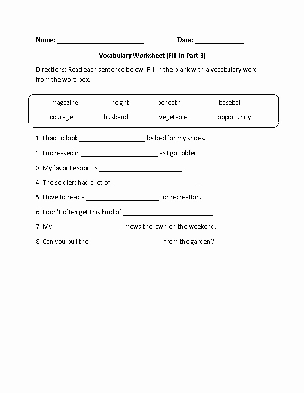 9th Grade Vocabulary Worksheet Awesome Englishlinx