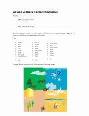 Abiotic and Biotic Factors Worksheet Awesome Abiotic Vs Biotic Factors Worksheet 1 Abiotic Vs Biotic