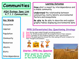 Abiotic and Biotic Factors Worksheet Beautiful New Aqa Ecology Specification Munities Abiotic and