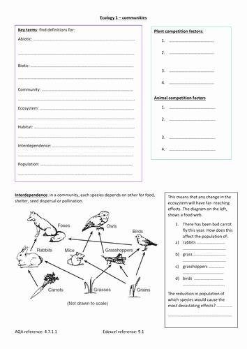 Abiotic and Biotic Factors Worksheet Best Of Lawrencel S Shop Teaching Resources Tes