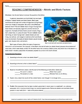 Abiotic and Biotic Factors Worksheet Elegant Abiotic and Biotic Factors