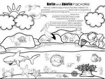 Abiotic and Biotic Factors Worksheet Fresh Biotic and Abiotic Factors Illustration for Using as Notes