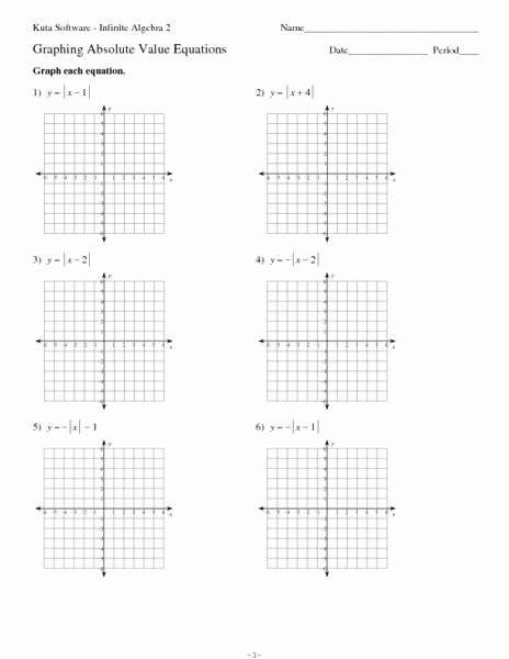 Absolute Value Equations Worksheet Lovely Twelve Graphing Absolute Value Equations Worksheet for 9th
