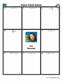 Absolute Value Equations Worksheet Luxury Person Puzzle Absolute Value Equations Jim Henson