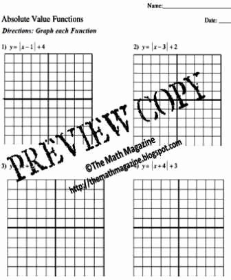 Absolute Value Function Worksheet Beautiful the Math Magazine Graphing Absolute Value Functions