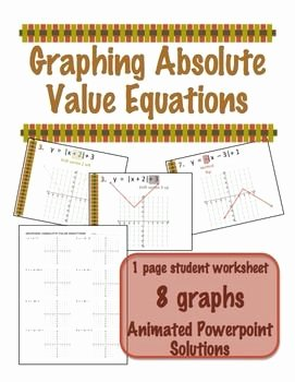 Absolute Value Function Worksheet Best Of Absolute Value Equation and Worksheets On Pinterest